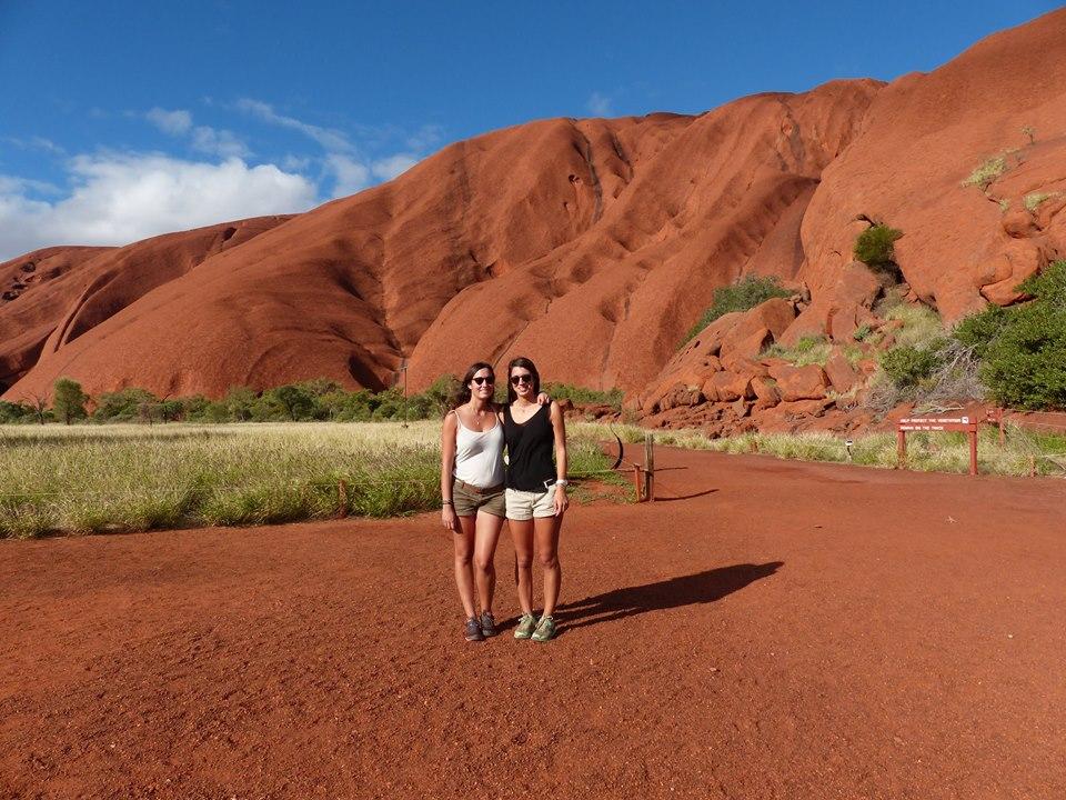 Jen & Manon, Uluru, Red Centre, Australia