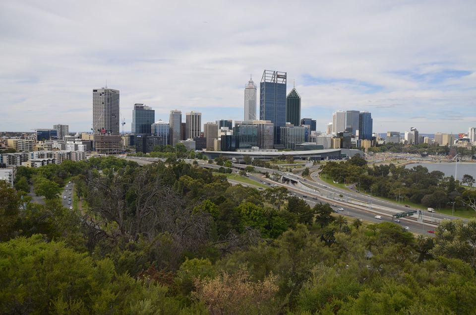 Vue sur Perth depuis Kings park