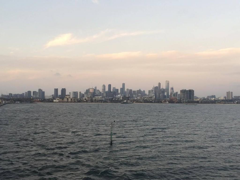 Melbourne vue de la mer
