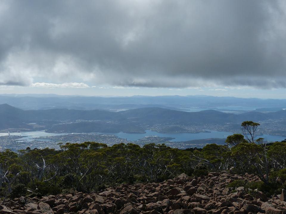 Vue depuis le Mont Wellington, Hobart